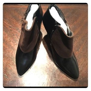 Ros Hommerson Black with Brown Ankle Boots